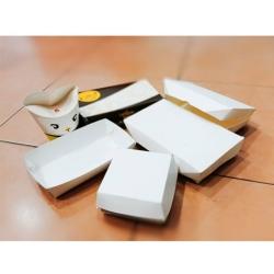 aneka paper lunch box,  burger box , kantong kentang, paper tray